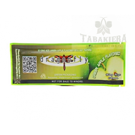 Bibułki Dragonfly Green Apple - Kingsize