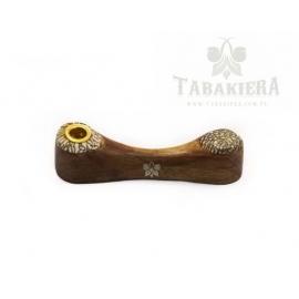 Fajeczka drewniana brązowa 10 cm
