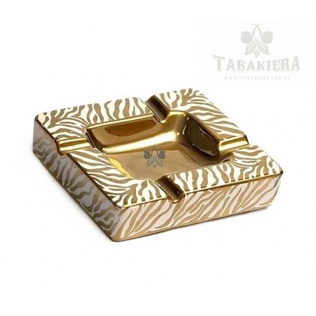 Popielnica cygarowa zebra - złota