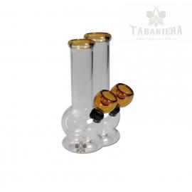 Fajka wodna mini bongo - Amber