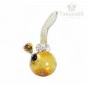 Fajka wodna bongo - Spiral Amber