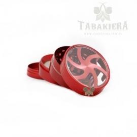 Młynek do tytoniu - grinder czerwony