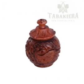Tabakiera drewniana zdobiona - 2