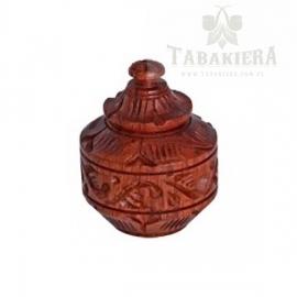 Tabakiera drewniana zdobiona - 3