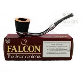 Fajka Falcon Ebony - Bent Silver - Black