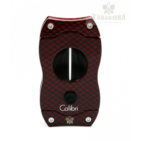 Obcinarka do cygar Colibri - V-Cut Red Carbon