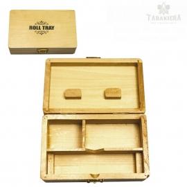 Pudełko na akcesoria do skręcania - Wooden Roll Tray