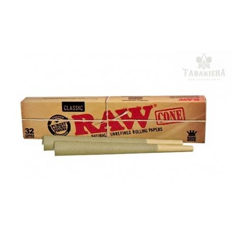 Owijka  RAW Cone Classic King Size 32 szt. w pudełku