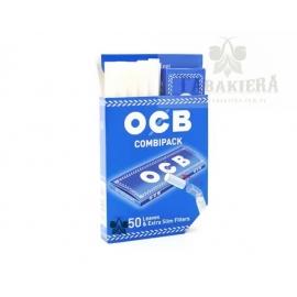 Filtry Papierosowe - CombiPack OCB Blue