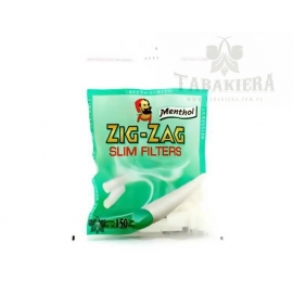Filtry ZIG-ZAG Slim 6 mm Mentholowe